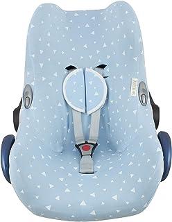 JANABEBE Funda para Maxi Cosi Cabriofix, silla de coche gr 0 (Blue Sparkles)