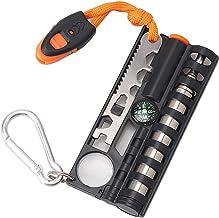 Multifunctional Outdoor Survival LED Light Magnifier Camping Kit Se Smtp