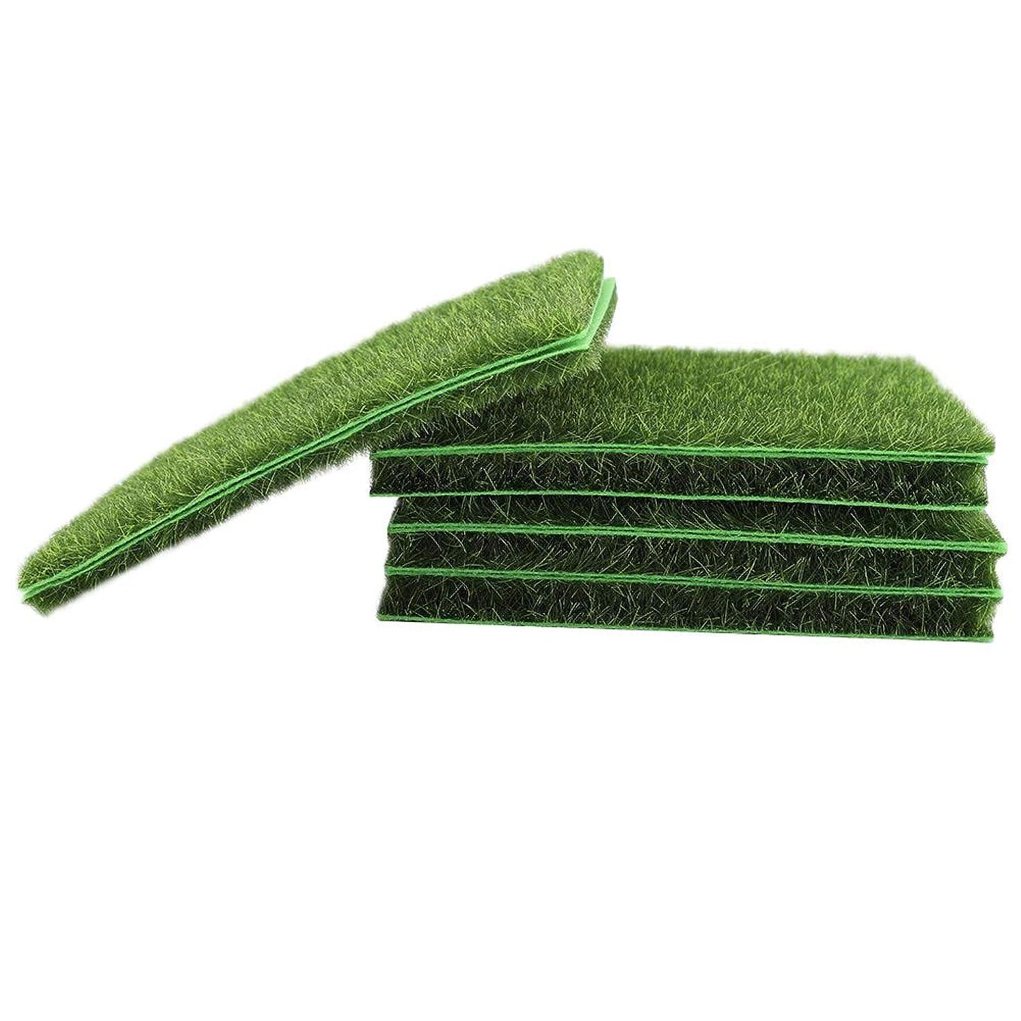 リハーサル降ろすスプレー人工芝、10個プレミアム屋外人工芝マット芝生敷物犬草パッド芝生庭マイクロ風景飾り