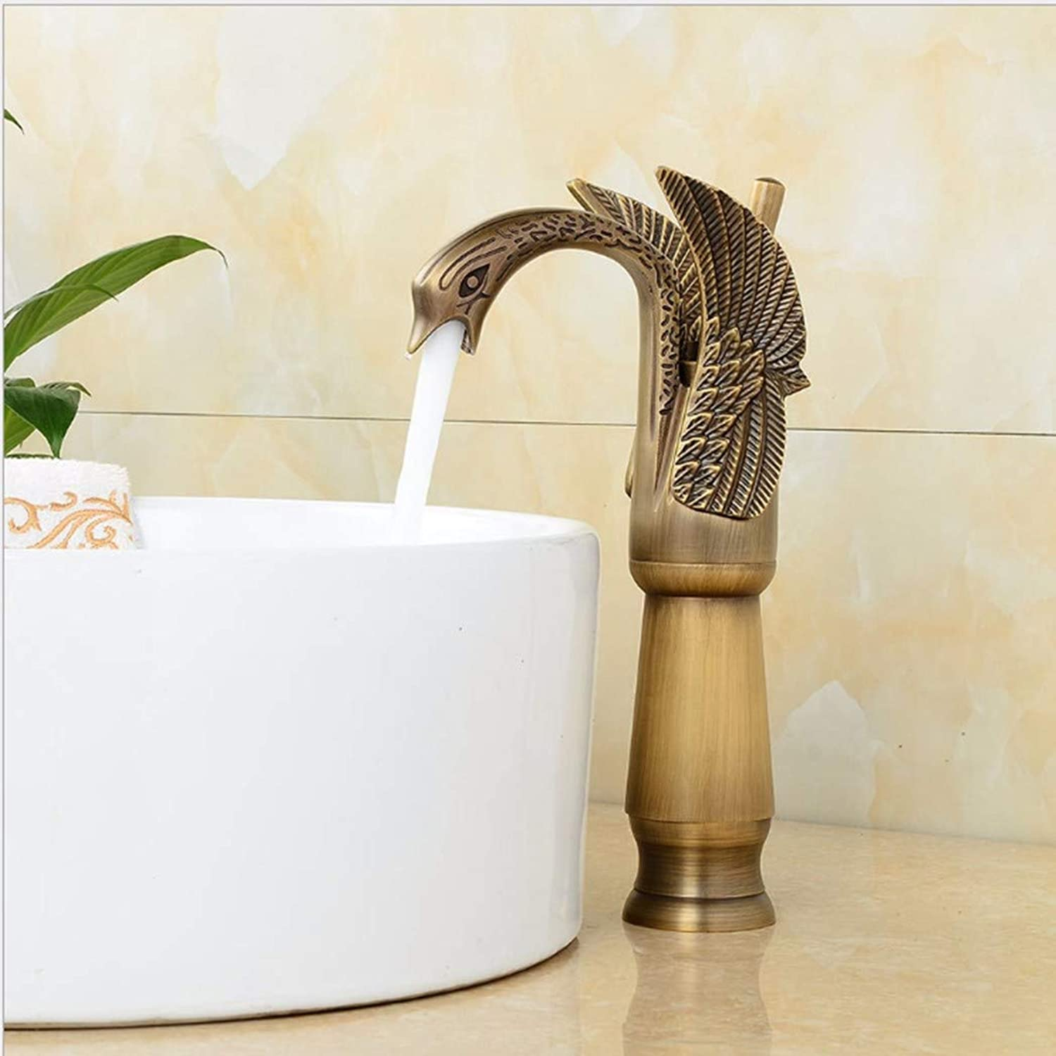 PatTheTap redatable Faucet Retro Metal Copper Used Kitchen Bathroom Washbasin Hot and Cold Dual Mode