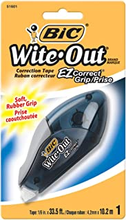 BIC Wite Out EZ Grip Correction Tape With Grip For Added Control - Pack of 1 Correction Tape