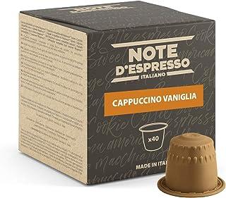 Note d'Espresso - Cappuccino Vanille - Capsules Exclusivement Compatibles avec Machine NESPRESSO* - 40 x 6,5 g