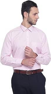 MANQ Men's Solid Regular Fit Formal Shirt - 10 Colors