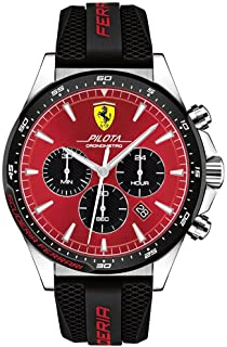 Scuderia Ferrari Hommes Chronographe Quartz Montres bracelet avec bracelet en Silicone - 830595