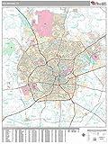 MarketMAPS San Antonio, TX City Wall Map - Laminated 48x64