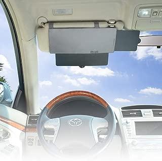 WANPOOL Car Visor Sunshade, Car Visor Anti-Glare Sunshade Extender for Front Seat Driver or Passenger - Grey 1 Piece