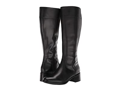 Cole Haan Cora Riding Boot (Black Leather) Women