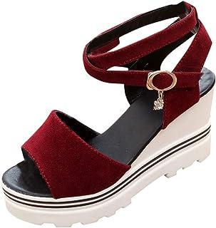 Remanlly Women Shoes Pumps Platform Sandals Roman Wedges Peep Toe Shoes Summer Casual Shoes