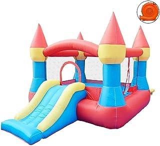 Castillos Hinchables Toboganes Inflables De Entretenimiento Vallas De Entretenimiento De Los Niños Trampolines Inflables De Entretenimiento (Color : Red, Size : 265 * 190 * 170cm)
