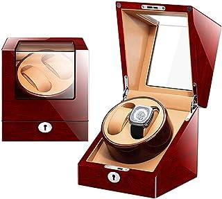 7bdf8b84f Doble caja de enrollador automática de madera Caja de almacenamiento de  lujo de madera para 2
