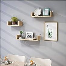 Woondecoratie Drijvende plankensets Ponsvrij, houten wandmontage Display Opbergrek voor fotolijst Boek Plantpot Woonkamer ...