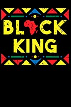 """Black King: 100 Page Blank Ruled Lined African American Writing Journal - 6"""" x 9"""" Black History Month Gift Men Women"""