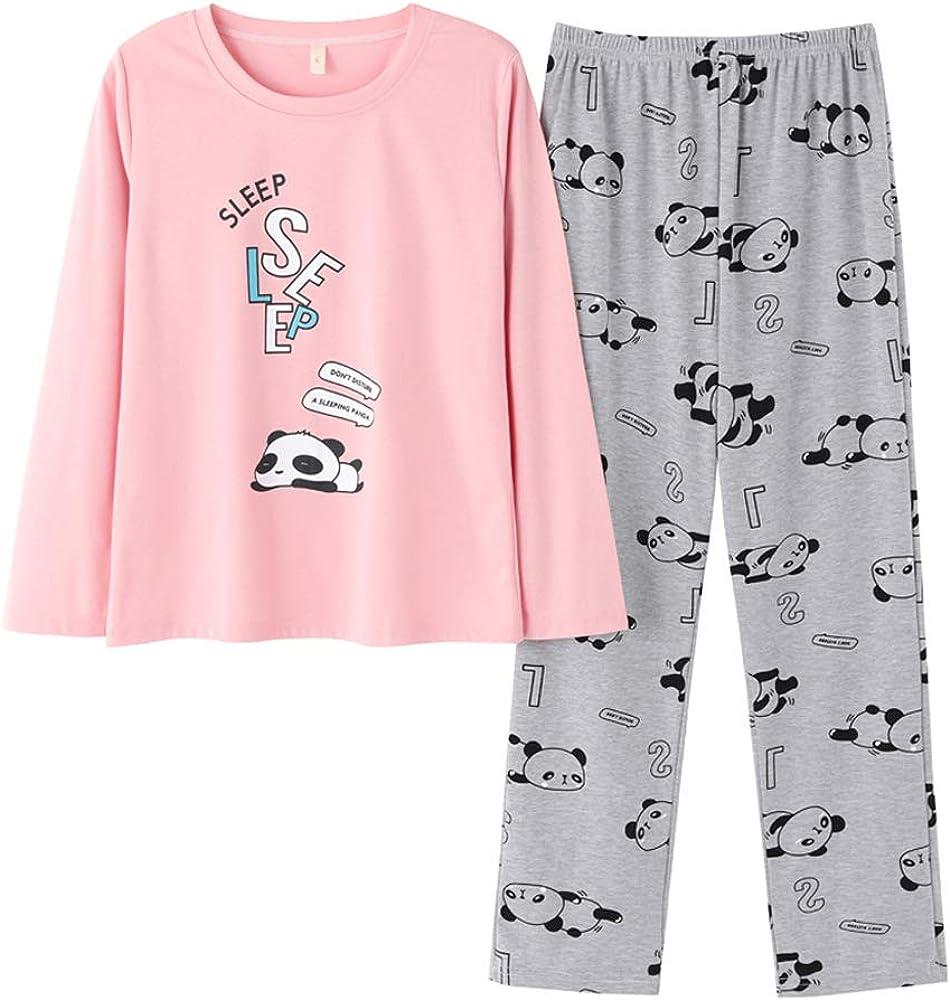 Girls Pyjama Set Sleepwear Rabbit Pullover Dot Print Pants Nightwear 3-14 Years