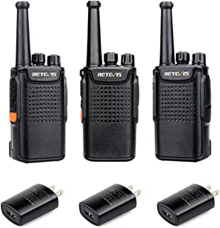 Retevis RT67 Walkie Talkies for Adults UHF FRS 16 CH Handsfree Palm Size Two Way Radio Long Range USB 3000 mAh Rechargeable Walkie Talkie(3 Pack)
