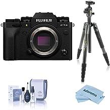 Fujifilm X-T4 Mirrorless Digital Camera Body, Black - with Vanguard VEO 2 265CB 5-Section Carbon Fiber Tripod with BH-50 B...