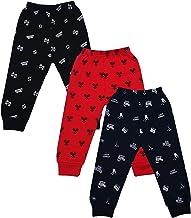 BENAVJI Kids Baby Boys and Girls Unisex Woolen Winter Warm Lower Track Pant Regular Fit Inside Fleece Legging Pajama Pack of 3