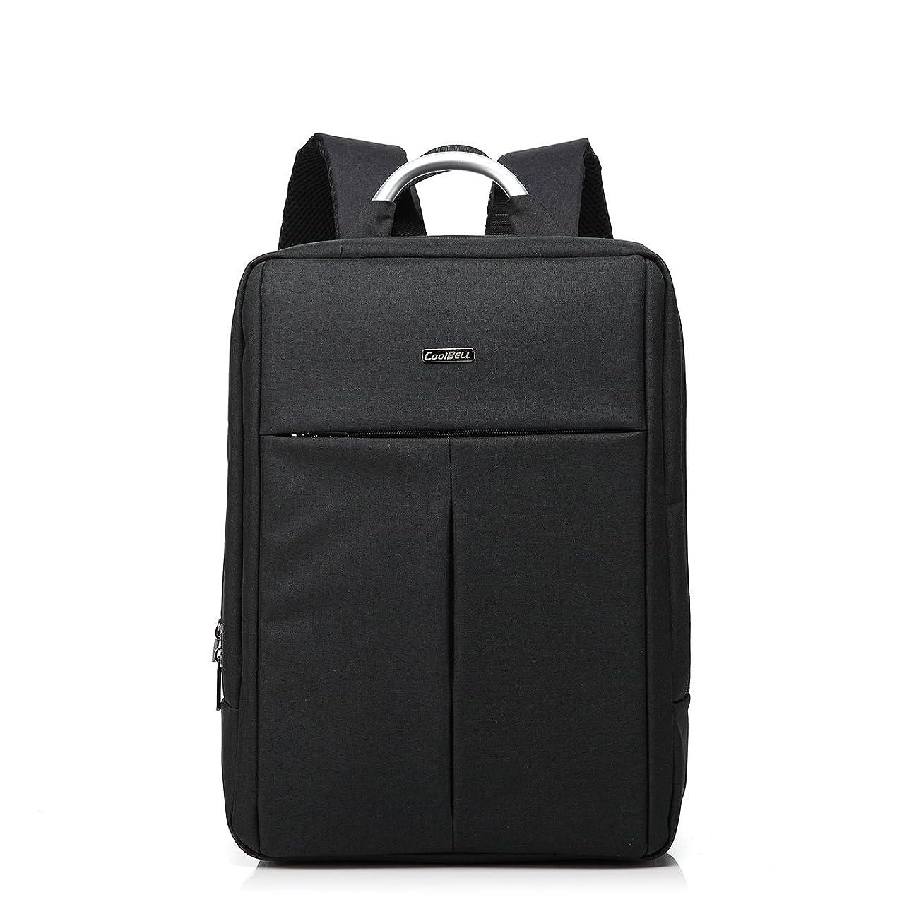 ポット起こる代表ビジネスリュックサック ノートPC収納対応 iPad&タブレット専用ポケット 茶色