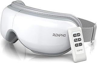 RENPHO Masseur oculaire avec télécommande et chaleur, compression Masseur oculaire rechargeable avec musique Wireless pour...