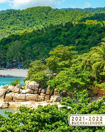 2021-2022 Buchkalender: Tagesplaner, 2 Jahre Kalender & Wochenplaner | 24 Monate Wochenkalender, Januar 2021 bis Dezember 2022, 1 Woche pro Seite | Erstaunliche Tropische Insel, Santa Lucia, Karibik