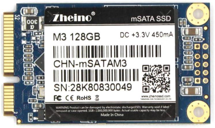 Zheino mSATA SSD 128GB M3 Internal Mini SATA SSD Drive 3D Nand Flash Solid State Drive for Mini PC Notebooks Tablets PC
