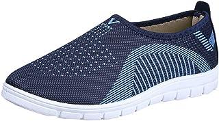 Zapatos Planas de Mujer Transpirable Trekking Zapatillas de Deporte de Mallas para Caminar Hombre Casual Mocasines Zapatos...