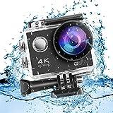 LESHP Action Cam 4K 1080P Action Kamera, 2 Akkus 1050mAh, WIFI, 16MP, Unterwasser und wasserdicht,...