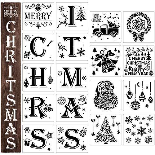 18 Plantillas de Navidad Plantilla de Signo de Merry Christmas Plantillas de...