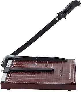 Paper Trimmer, A4 Guillotine Paper Cutter, Improve Cutting Precision (Red)