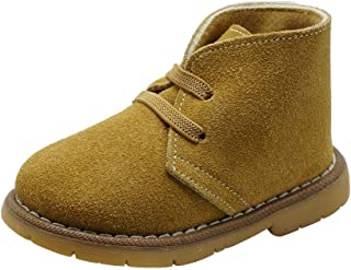 ShoBeautiful Soft Genuine Suede Leather Toddler Girls Boys Unisex Dress Bootie Slip On Walking Shoes(Toddler/Little Kid/Big Kid) CB8