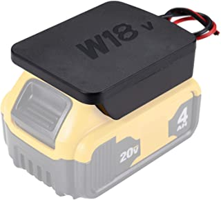 Power Wheels Adaptor for 20V dewalt Battery 18V dewalt Dock Power Connector 12 Gauge Robotics