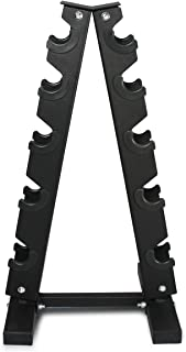 Fitness Republic Solid Steel Dumbbell Rack Holder, A-Frame Dumbbell Storage Racks, Free weights dumbbells set for home gym exercise, 3/5 Tier weight racks for dumbbells, weight tower, Steel 3/5 Holder