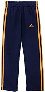 adidas Boys Activewear - Athletic Pants for Boys and Youth Size 8-18 (Medium / 10/12, Collegiate Navy/Lucky Orange)