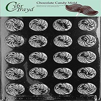 Cybrtrayd Life of the Party AO047 Swirl Mints Chocolate Candy Mold in Sealed Protective Poly Bag Imprinted with Copyrighted Cybrtrayd Molding Instructions