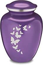 Adult Embrace Purple Butterfly Cremation Urn for Ashes