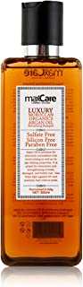 MaxCare Moroccan Organic Argan Oil Shampoo SLS Sulfate Free,Best for Damaged,Dry,Brittle Hair,Men and Women,Healthy Materi...