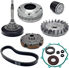 TARAZON Wet Clutch Kit,Housing/Primary Clutch Sheave/Sheave Fixed/Shoe/Nut/Bearing/oil Filter/Gasket/Seal/Belt for HiSUN UTV 400,MASSIMO,SUPERMACH,Q link,YS400,UTV400 MSU400