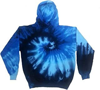 Tie Dye Hoodie Sweatshirt Blue Ocean Youth XS - Adult XXX-Large 80% Cotton
