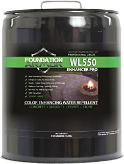 Armor WL550 Matte Wet Look Enhancer Sealer Concrete, Brick, Pavers, Stone, and Slate