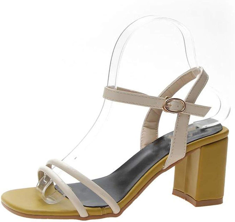 Fashion Chunky High Heels Ladies Sandals Peep Toe Thick Heel Wedding shoes Women Sandals