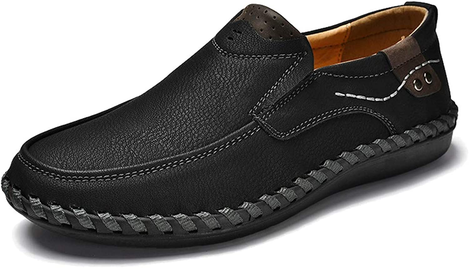 Femaroly Men's Casual Loafers shoes Formal Wear Handmade Business Comfortable Slip-on Leather Walking Dress shoes