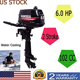 NG NOPTEG HANGKAI 6HP Outboard Boat Motor Engine 2 Stroke Updated with Water Cooling System