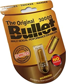 The Original Bullet 30000 Enhanced Male Supplement 3 Pack for Time Size Stamina