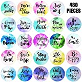 480 Pieces Inspiring Planner Stickers Inspirational Quote Stickers Encouraging Stickers Motivational Encouragement Stickers for Book Phone Car Bike Scrapbook