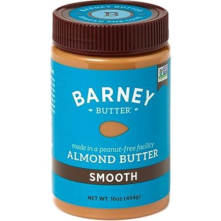 BARNEY Almond Butter, Smooth, No Stir, Non-GMO, Skin-Free, Paleo Friendly, KETO, 16 Ounce