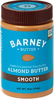 BARNEY Almond Butter, Smooth, Paleo Friendly, KETO, Non-GMO, Skin-Free, 16 Ounce