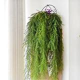 Leijing Fleur Artificielle Murale 105cm Longue Fausse Plante à Suspendre Vigne Aiguille de pin Décorations pour Maison Mariage
