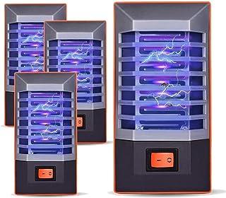 Leilims 220V / 110V LED eléctrico UV Light Anti-Mosquito lámpara Fly Bug Trampa for Insectos Repelente Anti-Mosquito lámpara Mute Anti-Mosquito LED de luz UV, 4 PCS