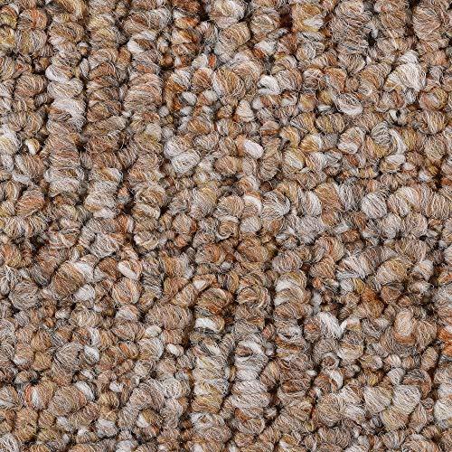 Teppichboden Auslegware | Schlinge gemustert | 200, 300, 400 und 500 cm Breite | hell-braun | Meterware, verschiedene Größen | Größe: 8 x 5m