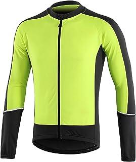 メンズサイクリングジャケット、防水通気性MTBレインコート、防風反射バイクウインドブレーカー、長袖自転車アウターウェア、サイクリングライディングランニングレーシングハイキング用