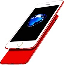 iBarbe Ultra Thin Slim Cover for iPhone 8/7, Anti Scratch Case Durable Light Slim Fit Hard Shell Solid PC Back Cover Protective Case for iPhone 7 / iPhone 8 (Red)